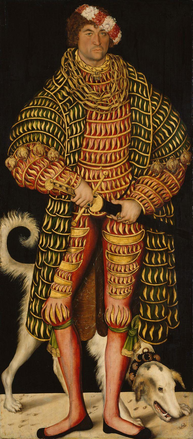 Lucas Cranach de Oudere, Hendrik de Vrome, Hertog van Saksen, 1514. Beeld Rijksmuseum