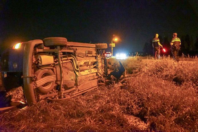 De auto werd gevonden bij Enderakkers in Bergeijk.
