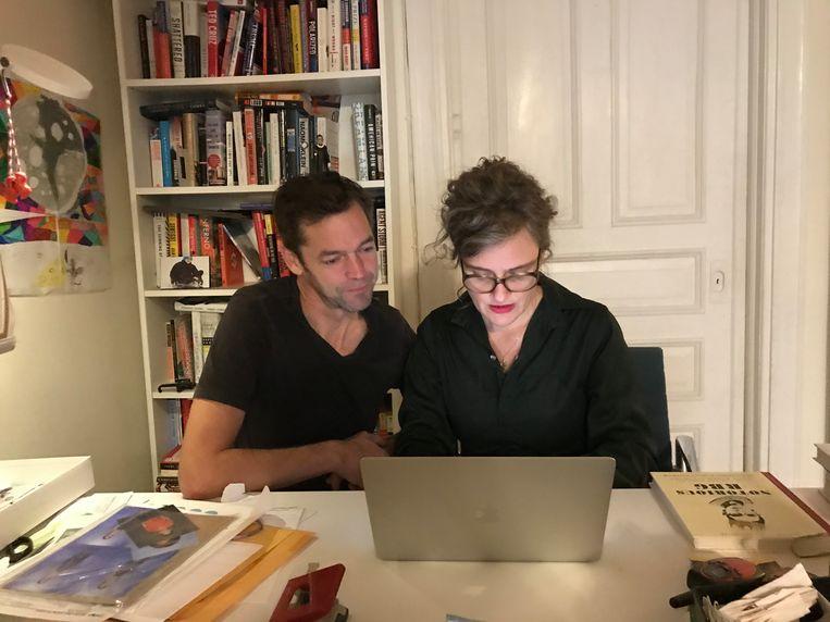 Verslaggevers Michael Persson en Anne van Driel Beeld Olek Persson