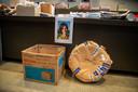 Bewijsmateriaal en een foto van Carmen Garcia Ortega (35) die in 2017 werd vermoord.