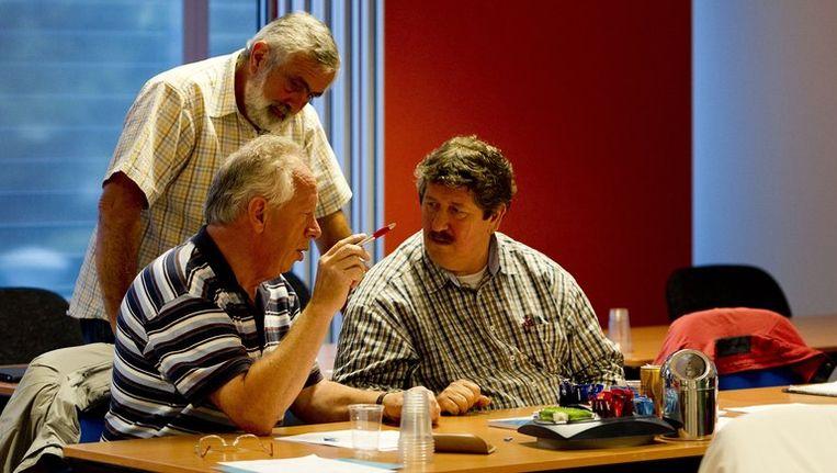 De bondsraad van FNV Bouw vergadert over het pensioenakkoord. Beeld anp