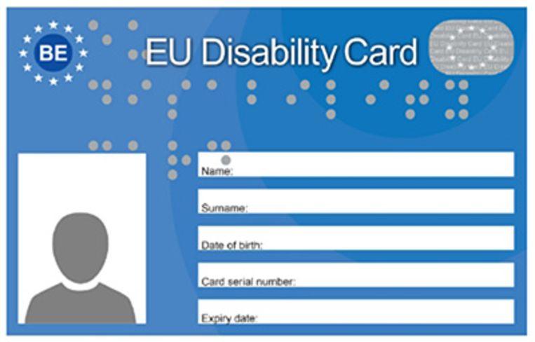 De European Disability Card (EDC) is een gratis kaart die de toegang van personen met een handicap tot cultuur, sport en vrijetijdsbesteding bevordert (musea, pretparken, toeristische attracties, sportcentra,…) en een aantal voordelen in die domeinen biedt.