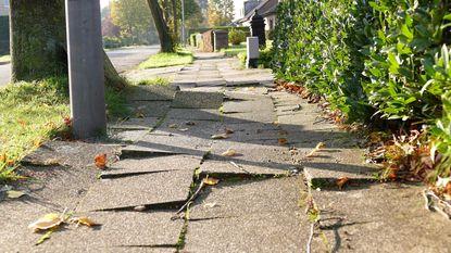 Kritiek op slechte staat voetpaden