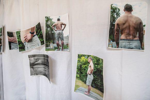 Enkele foto's van Kobe Wyffels, het model waarop de reus is gebaseerd.