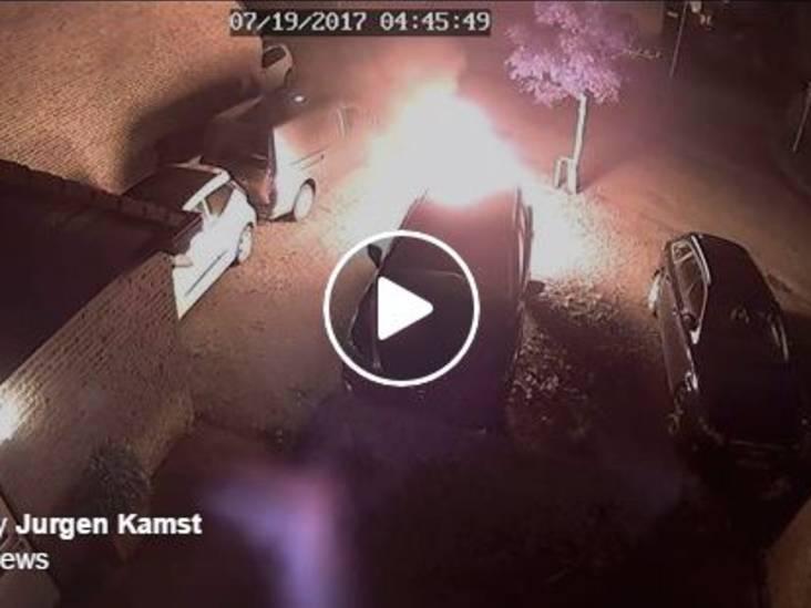 Bewakingscamera legt vast hoe stel opzettelijk auto in brand steekt in Terheijden