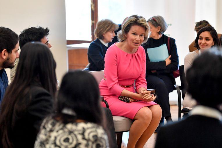 Koningin Mathilde was te gast op het World Resources Forum in Antwerpen.