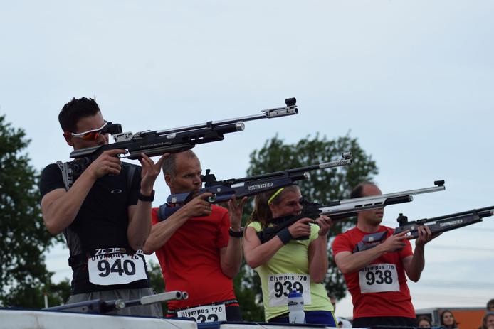 Vorig jaar werd de biatlon voor de eerste keer gehouden.