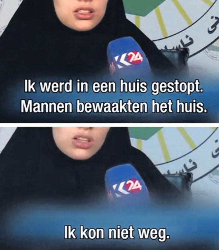 De Nederlandse Laura vertelde haar verhaal na haar bevrijding op de Koerdische televisie Beeld Trouw