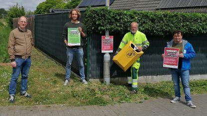 Stad Ieper maakt vuilnisbakkenplan op: groene affiches voor correct gebruik, rode affiches voor 'probleemvuilnisbakken'