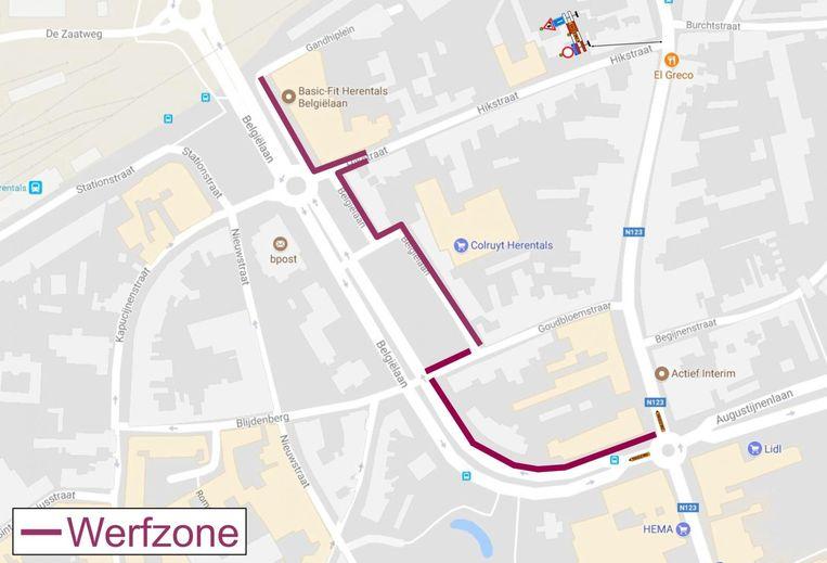 Doorgang Belgiëlaan-Hikstraat afgesloten