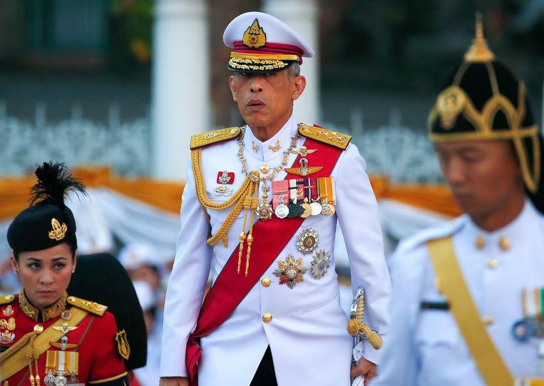 De Thaise koning Maha Vajiralongkorn Bodindradebayavarangkun. De wetten rond majesteitsschennis zijn bijzonder streng in Thailand.