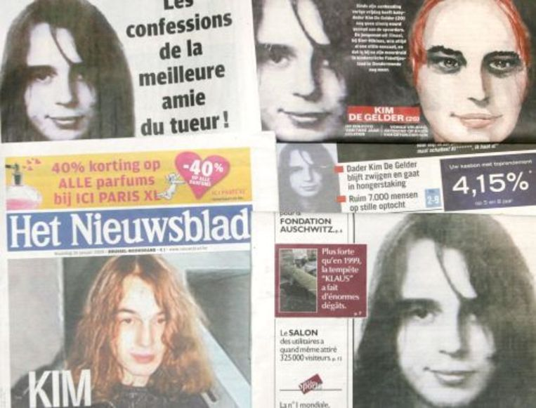 Kim de Gelder op de voorpagina's. de dag na zijn daad. ANP Beeld