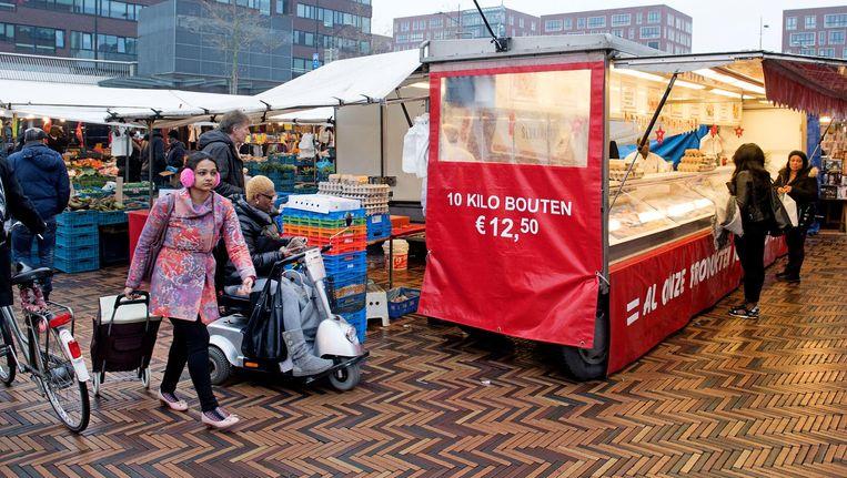 Bij winkelcentrum Amsterdamse Poort is het niet toegestaan om te fietsen. Beeld ANP