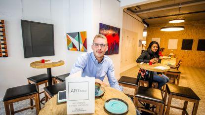 Kunst én café in één: Stijn (27) opent ARTificial