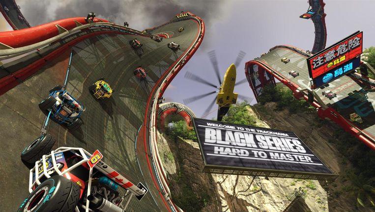 Racecircuit, zo te zien ontworpen onder invloed van lsd. Beeld Nadeo