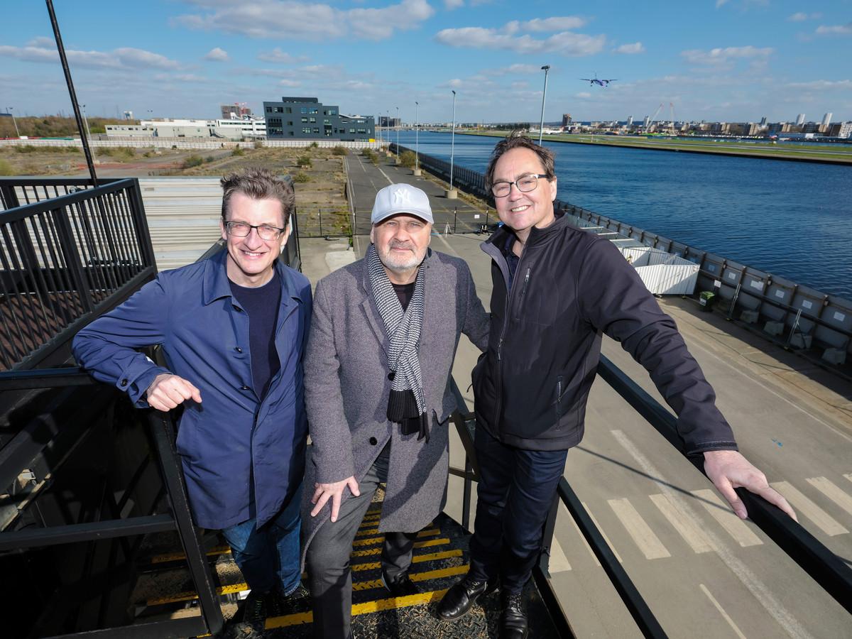 v.l.n.r.: Jeremy Brock, Theu Boermans en Fred Boot
