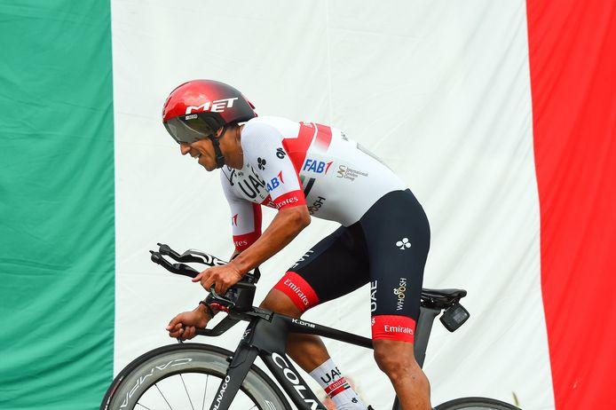 Plus de peur que de mal pour Juan Sebastian  Molano, qui a pu terminer son contre-la-montre.