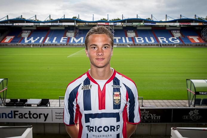 De Ijslander Kristofer Ingi Kristinsson in het shirt van Willem II