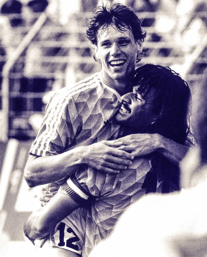 Ruud Gullit in 1988 na een assist op Marco van Basten tegen Engeland.