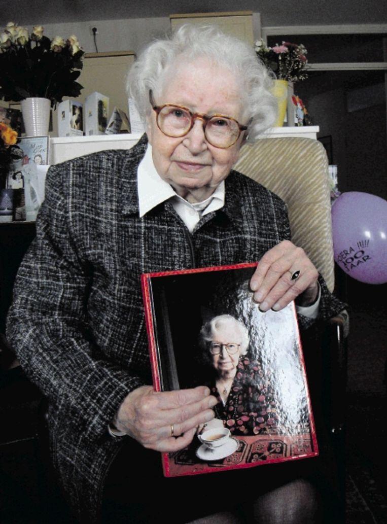 Miep Gies vorig jaar, op haar honderdste verjaardag. (FOTO ANP) Beeld