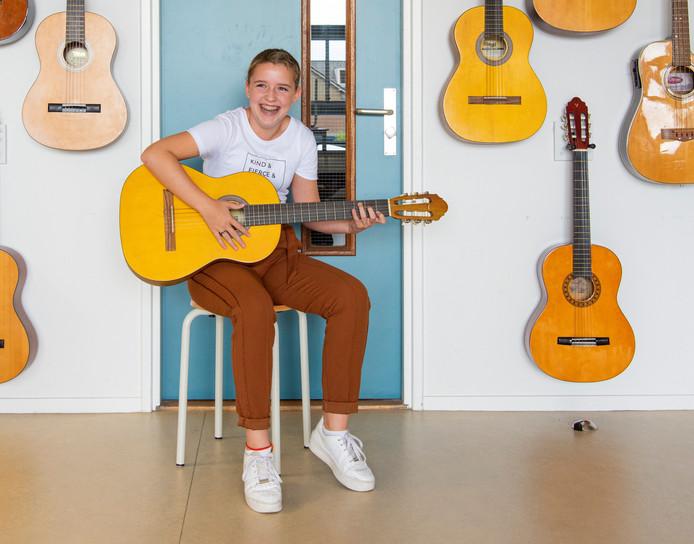 Door naar The Battles: De 14-jarige Noordikleerlinge Merle Sjoers uit Wierden.