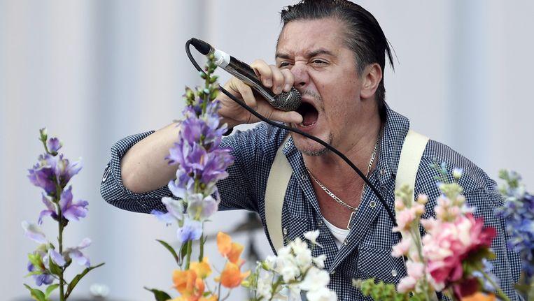Faith No More-zanger Mike Patton, vorig weekend op Rock Vienna in Wenen.