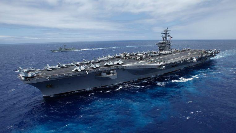 De USS Nimitz. Beeld REUTERS