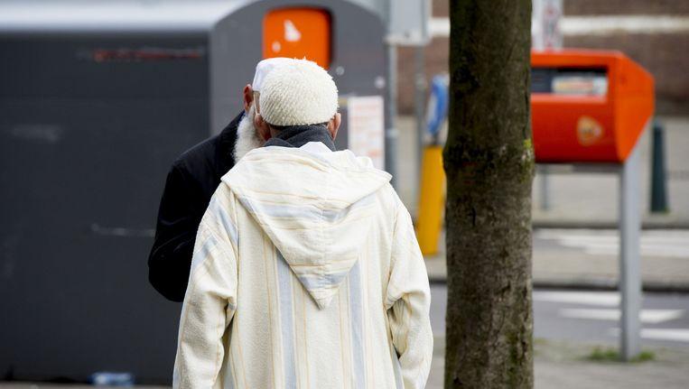 Archieffoto van twee islamitische mannen. Beeld anp