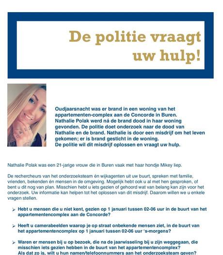 Buren boos op geroddel over moordzaak Nathalie Polak