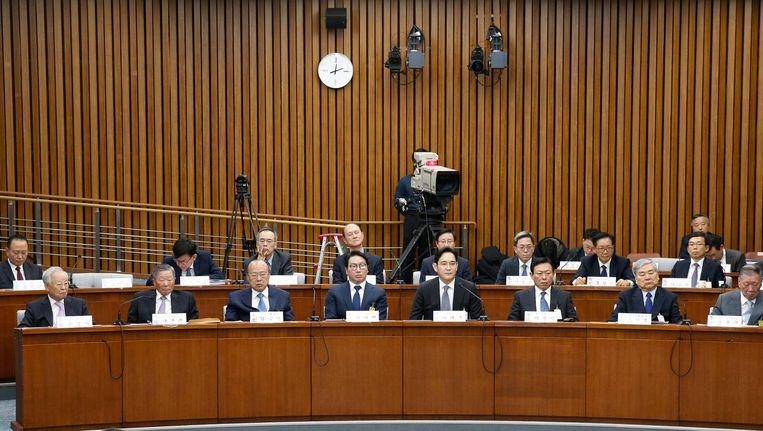 De parlementaire enquete in Zuid-Korea. Beeld epa
