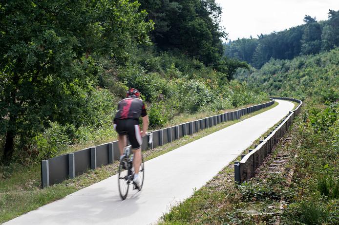 Het einde van schermen aan de Maldense kant van het fietspad.