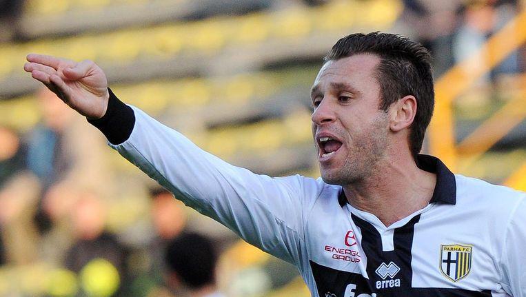 Bij Parma moet Antonio Cassano voor de goals zorgen