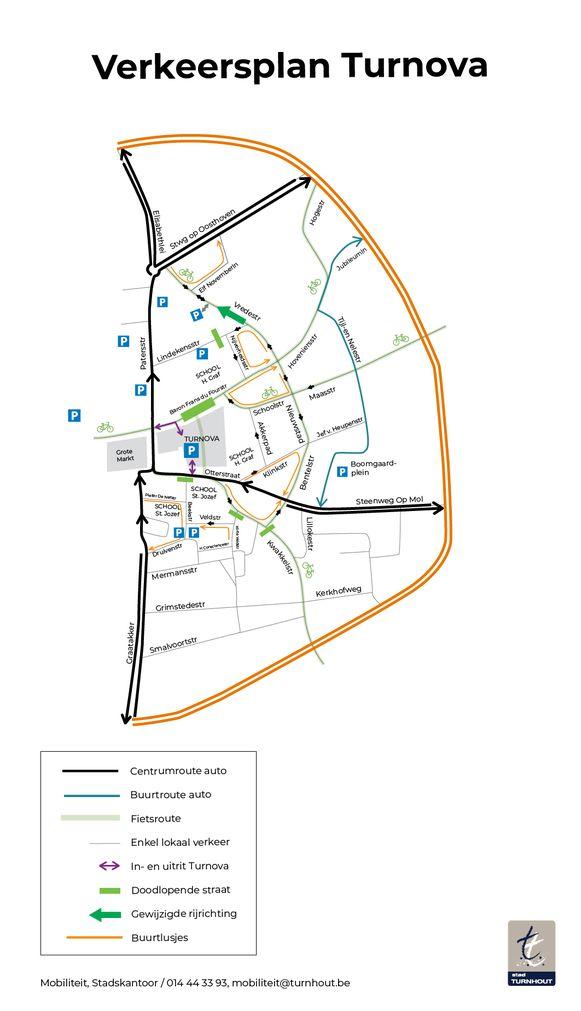 Het nieuwe verkeersplan in de omgeving van Turnova