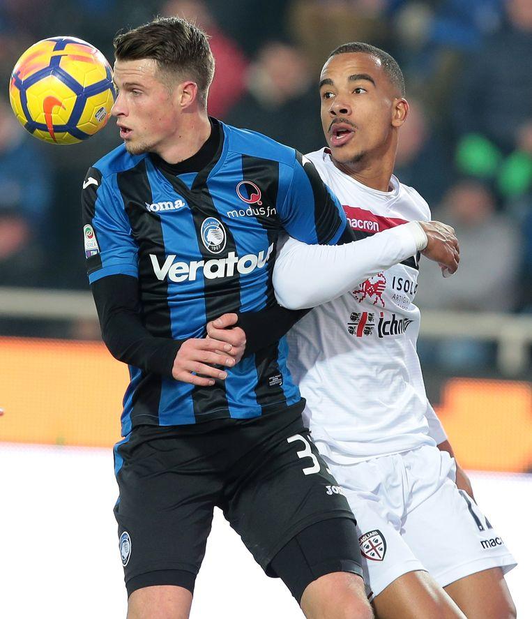 Miangue (r) eerder dit seizoen in actie tegen Inter.