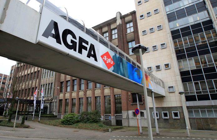 De hoofdzetel van Agfa Gevaert in Mortsel.