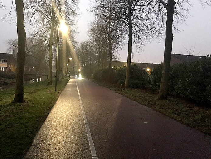 Fietslichtcontrole op Effentweg in Oosterhout @Politie