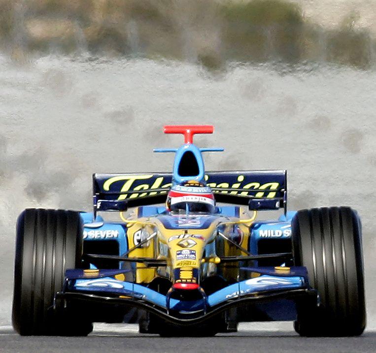 De Renault-bolide in 2006, toen de renstal kampioen werd. Beeld ap