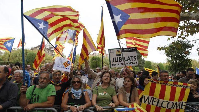 Demonstratie van Catalanen die streven naar onafhankelijkheid Beeld reuters