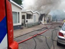 Woonwagenbrand aan het Eemshof in Son en Breugel