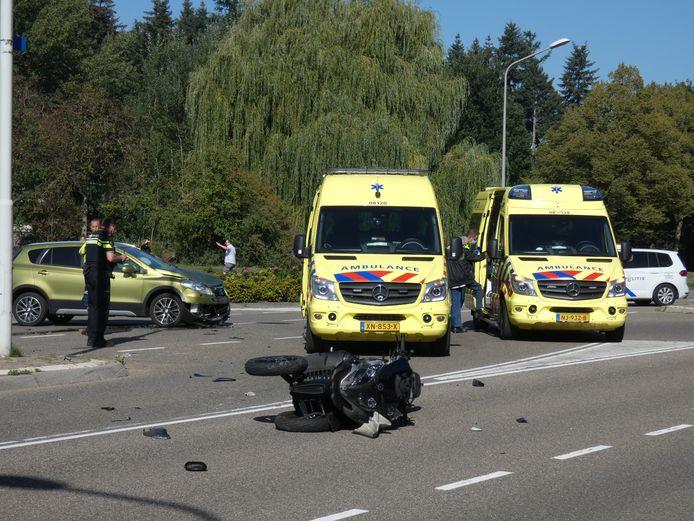 De driewielige motor die bij het ongeluk betrokken was.