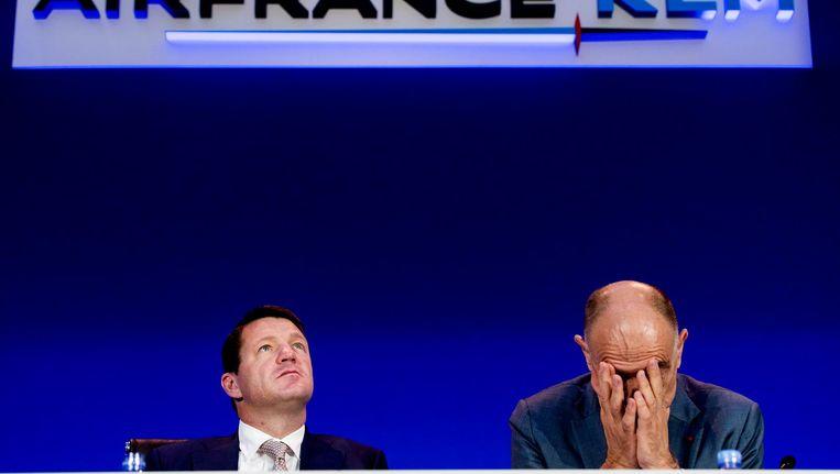 Pieter Elbers (KLM) en Jean Marc Janaillac (Air France-KLM) Beeld anp