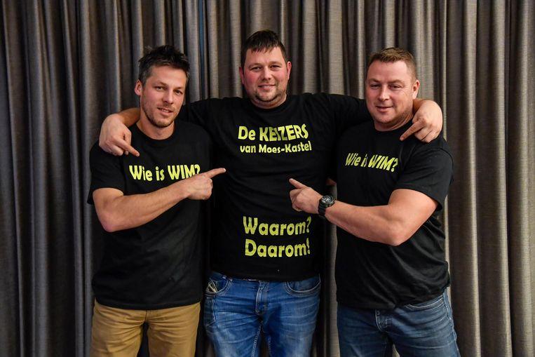 Steven Van den Bossche (l.), David Rottiers (m.) en Peter Sertijn: het team achter 'de Wimmen' .