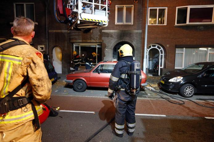Brand in een huis aan de Tongelresestraat in Eindhoven.
