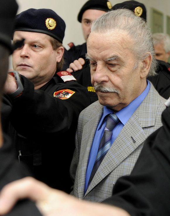 Fritzl tijdens zijn proces 10 jaar geleden.