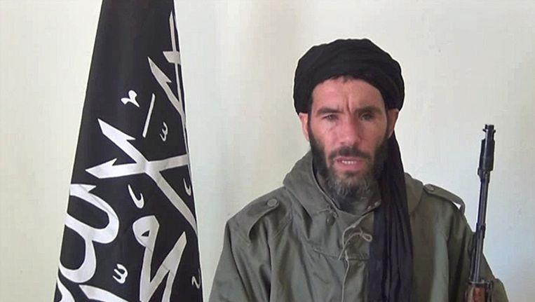 Jihadleider Belmokhtar die zaterdag mogelijk is gedood in Libië. Beeld afp