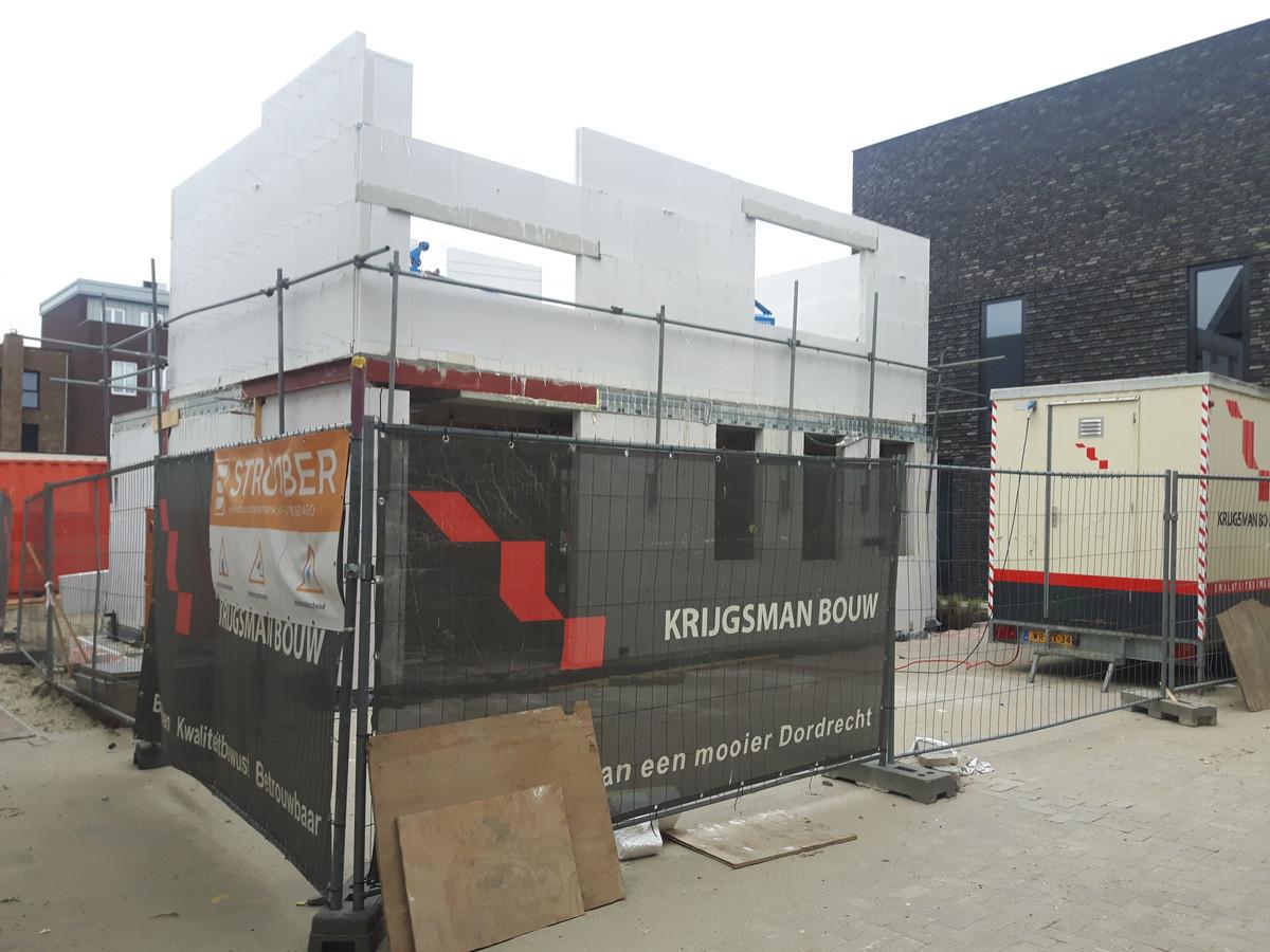 De woning van Heijkoop in aanbouw.