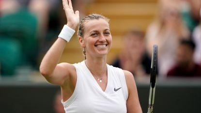 Petra Kvitova staat voor het eerst in vijf jaar in achtste finales