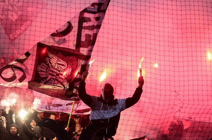 Fans van PAOK op archiefbeeld.