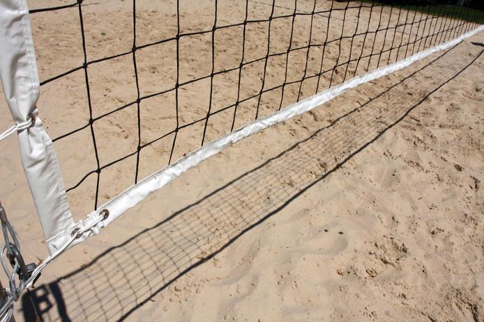 Bij blindvolleybal, zoals op het beachvolleybalveld bij Aquadrome wordt gespeeld, is het net afgeschermd