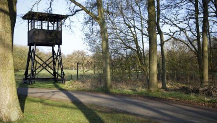 De wachttoren op het terrein van het voormalige Kamp Westerbork. © anp Beeld
